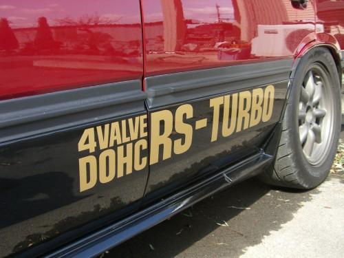 DR30 サイドロゴRS-TURBO